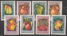 Hungary 1954 Mi#1387-94 Fruits, Mint Hinged