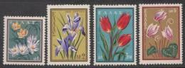 Greece 1958 Mi#685-88 Flowers, Mint Hinged - Greece