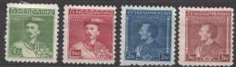 Czechoslovakia 1932 Mi#314-317 Mint Hinged