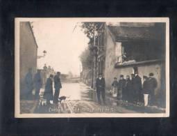 Carte Photo - Corbeil Inondé - 1910 - Route De Soisy. - Corbeil Essonnes