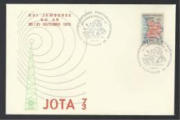 21 / 10 / 1973 - LOBITO - XVI JAMBOREE NO AR - SÁ DA BANDEIRA - ESCUTISMO - SCOUTING - N.º 1358 - 2 SCANS - Angola