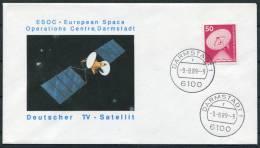 1989 Germany Darmstadt ESOC Space Rocket Cover - Europe