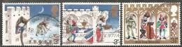 Gran Bretagna 1973 Usato - Mi. 640/41; 644 - 1952-.... (Elizabeth II)