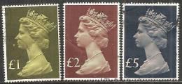Gran Bretagna 1977 Usato - Mi. 732/34 - 1952-.... (Elisabetta II)