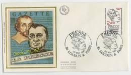 {68181} FDC Enveloppe , Soie , La Presse , Loudun & Paris 30 Mai 1981 , 2,20 Fr - FDC