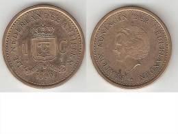 *netherlands Antilles  1 Gulden    1990   Km 37  Bu - Antillas Nerlandesas
