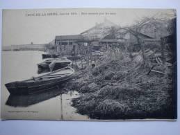 Corbeil Essonnes - Crue De La Seine En 1910 - Bois Amenés Par Les Eaux Aux Bas Vignons - Corbeil Essonnes