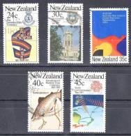 New Zealand 1983 Commemorations Set Of 5 Used - New Zealand