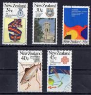 New Zealand 1983 Commemorations Set Of 5 Used - - New Zealand