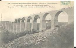 SAINT-LAURENT-SUR-SEVRE  - Travaux Du Viaduc De Barbin, Bon état ( Voir Scan ) - Other Municipalities