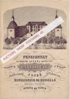 Superbe Lithographie Du PENSIONNAT Des Frères Des Ecoles Chrétiennes Au Château De CARLSBOURG Commune De PALISEUL - Documents Historiques