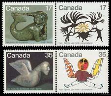 Canada (Scott No. 867a-869a - Inuits) [**] Série De 4 / Set Of 4 - American Indians