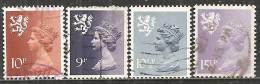 Scozia 1976/80 Usato - Mi. 24; 27/28; 31 - Regionali