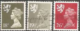 Scozia 1987/90 Usato - Mi. 48; 50; 59 - Scotland