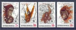 Mra079s WWF FAUNA ZOOGDIEREN AAP MONKEY ORANG OETAN URANG UTAN MAMMALS INDONESIA 1989 PF/MNH - W.W.F.