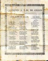 Cantiques à N-D De Celles , Sans Date, Ariège, Pays De Foix - Midi-Pyrénées