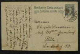 Suisse Carte Entier Type Walter Tell, Gris Surchargé 10, Cachet Ambulant - Interi Postali