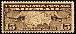 USA - 15c - Airmail - Map & Mail Planes - 1926 - SCC7 - MH - Air Mail