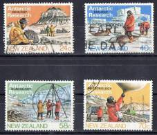 New Zealand 1984 Antarctic Geology Research Set Of 4 Used - Used Stamps