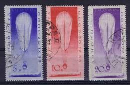 Russia: Airmail 1933, Mi 453-455,  Cancelled - Gebruikt