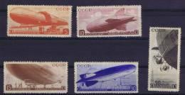 Russia: Airmail 1934, Mi 483-487 MH/* Slightly Tinted Gum - Ongebruikt