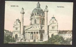 AUSTRIA  VIENNA  WIEN  KARLSKIRCHE , OLD POSTCARD - Wien