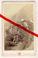 Original Foto In CDV-Größe - Schloss Tirol Bei Meran Merano - Ca. 1875 - Fotograf Fr. Unterberger, Innsbruck - Lieux