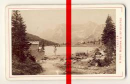 Original Foto In CDV-Größe - Misurinasee Mit Sorapiss - Ca. 1875 - Fotograf Alois Beer, Klagenfurt - Lieux