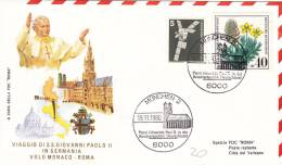 Pape Jean-Paul II - Voyage Munchen Munich 1980 - Papa Papst Pope - Lettre Brief Letter - Marcophilie - EMA (Empreintes Machines)