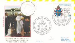 Pape Jean-Paul II - Voyage Paris France Francia 1980 - Papa Papst Pope - Lettre Brief Letter - Marcophilie - EMA (Empreintes Machines)