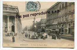 - 102 - BORDEAUX - Le Cours Du Chapeau Rouge - écrite, Animation, Tramways, Splendide, Automobile, TBE, 1905, Scans. - Bordeaux