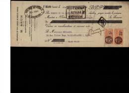 MANDAT  18/12/1928  -  SAINT  HEAND  -   M.  BRUN  Découpage  de Métaux minces  -  Mr  DUPLANIL  à  St  CHAMOND