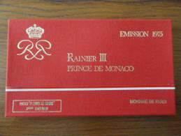 1975 - VIDE Coffret VIDE FDC MONACO - Sans Pièces - Monaco