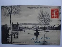 Corbeil Essonnes - Les Inondations En 1910 - Le Champ De Foire - Corbeil Essonnes
