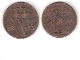 *netherlands  1 Cent 1823 B Km 47   FR+ - [ 3] 1815-… : Regno Dei Paesi Bassi