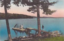 Maine Monmouth Cobbossee Colony Swimming Dock Albertype
