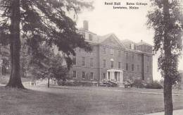 Maine Lewiston Rand Hall Bates College Albertype