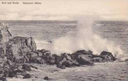 Maine Ogunquit Surf And Rocks Albertype