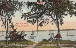 Maine Portland Fort Allen Park Eastern Promenade