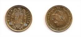 1 Peseta – Espagne- 1966 (75) – Franco – Aluminium Bronze – Etat SUP – KM 796 - [ 5] 1949-… : Royaume