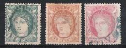 01655  Antillas Edifil 19 - 21 O  Cat. Eur. 63 - Cuba (1874-1898)