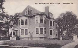 Maine Lewiston Frye Street House Bates College Albertype