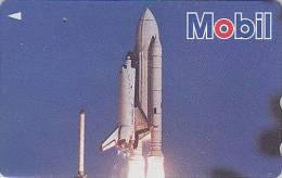 Télécarte Japon - ESPACE  Fusée - SPACE ROCKET / MOBIL Essence Pétrole ** ONE PUNCH ** Japan Phonecard  - 491 - Espace