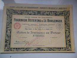 FOURNIER,OSTERTAG,BOULENGER (1926) - Aandelen