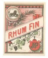 Etiquette De Rhum Fin  -  JP - Rhum