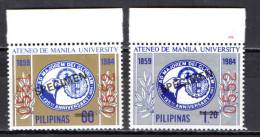 "Philippines 1984 Michel 1635-1636 Manila University Set Of 2  ""Specimen"" MNH - Filipinas"