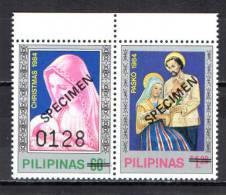 "Philippines 1984 Michel 1637-38 Christmas Set Of 2  ""Specimen"" MNH - Filippine"