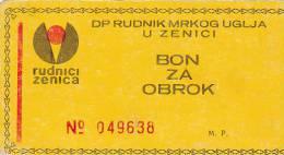 BOSNIEN  -  BON ZA OBROK  --  RUDNIK MRKOG UGLJA ZENICA  -  COAL MINE, MINE DE CHARBON, KOHLENGRUBE - Bosnien-Herzegowina