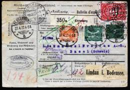A1649) DR Infla Paketkarte Von Elsterberg 27.4.1922 Nach Basel / Schweiz - Briefe U. Dokumente