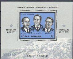 Romania 1971 / Soiuz 11 / Perforated Block